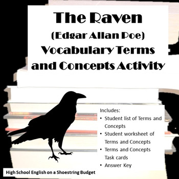 The Raven Vocabulary Terms and Concepts Activity (Edgar Allan Poe)