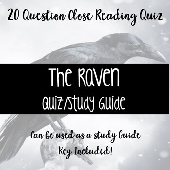 The Raven Quiz/Study Guide
