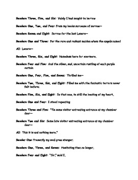"""The Raven""  Reader's Theater Script"