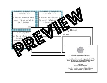The Raven Task Cards for Textual Analysis