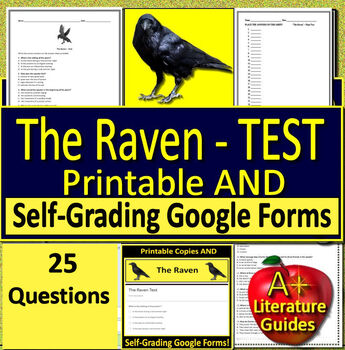 the raven test by a plus literature guides teachers pay teachers. Black Bedroom Furniture Sets. Home Design Ideas