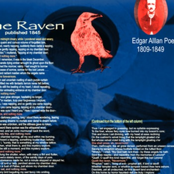 The Raven Text Poster