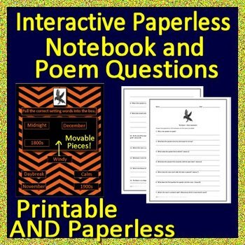 The Raven Test and Activities -  Print and Google Paperless w/ Self-Grading