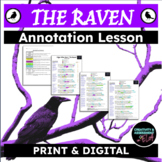 The Raven -  a lesson in comprehension, annotation, and poetic devices