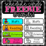 8 Schedule Cards FREEBIE!
