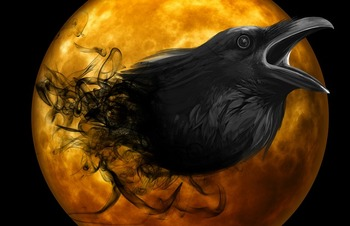 The Raven by Edgar Allan Poe Background PPT and Notes Page