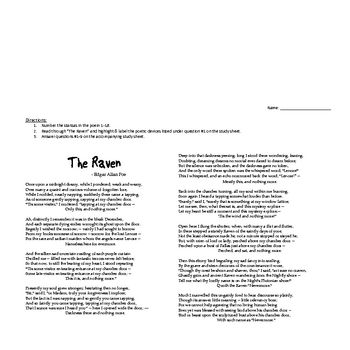 """""""The Raven"""" by Edgar Allan Poe - Poetry Study"""