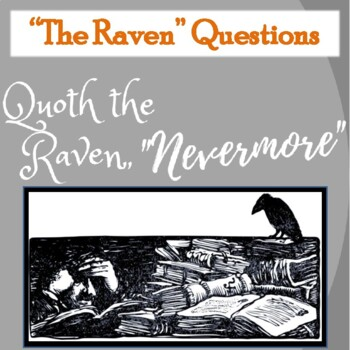 """""""The Raven"""" by Edgar Allan Poe: Poetry Questions with PPT Answers"""