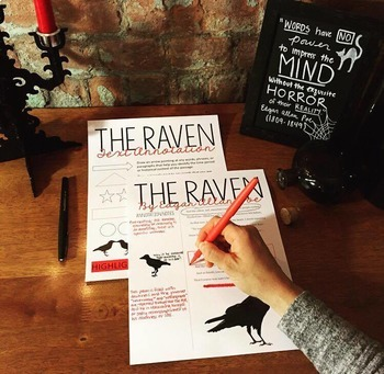 The Raven by Edgar Allan Poe Text Annotation