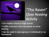 The Raven, by Edgar Allen Poe: Close Reading Activity (PDF)