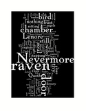 The Raven by Edgar Allan Poe Word Art Poetry Prints