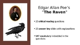 The Raven with 42 all-purpose reading comprehension assess