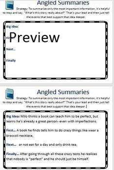 The Reading Strategies Book Goal:5.12 Angled Summaries
