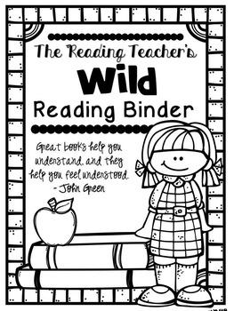 The Reader Teacher's Binder Covers {Freebie}