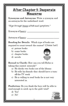 The Reading Challenge from the Black Lagoon (Thaler) Novel Study  (22 pages)
