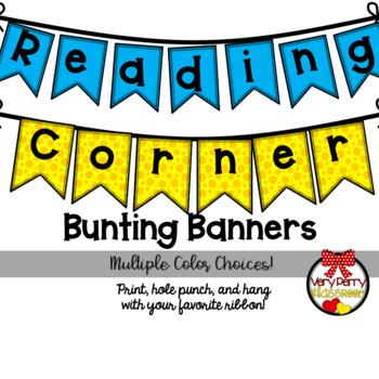 The Reading Corner Bunting Banner