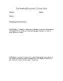 The Reading/Document Critique Form