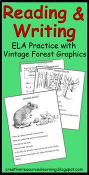 The Reading Forest, reading comprehension unit for sight words