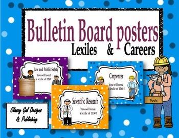 The Reading Lexile Career Connection Bulletin Board~Polka Dots