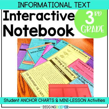 The Reading Notebook: Third Grade Informational Interactive Notebook