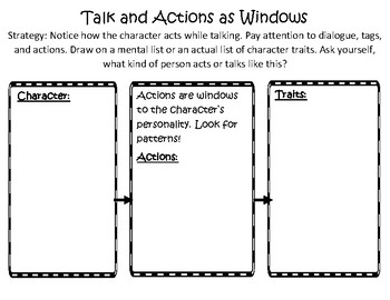 The Reading Strategies Book 6.17 Talk and Actions as Windows