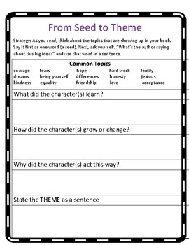 The Reading Strategies Book 7.13 From Seed to Theme