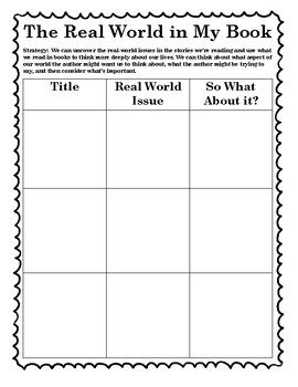 The Reading Strategies Book 7.15 The Real World in My Book