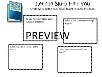 The Reading Strategies Book Goal 5.10 Let the Blurb Help You