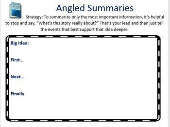 The Reading Strategies Book Goal 5.12 Angled Summaries