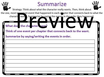 The Reading Strategies Book Goal: 5.13 Summarize Based on What a Character Wants