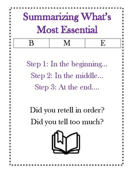 The Reading Strategies Book Goal 5. 3 Summarizing What's Most Essential