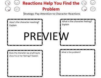 The Reading Strategies Book Goal 5.6 Reactions Help You Find the Problem