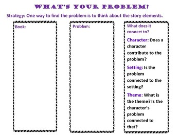 The Reading Strategies Book Goal 5.8 What's Your Problem?