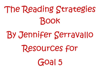 The Reading Strategies Book Goal 5 Fiction Plot-Anchor Charts