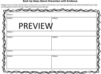 The Reading Strategies Book Goal 6.6 Characters with Evidence