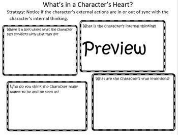 The Reading Strategies Book Goal 6 Characters