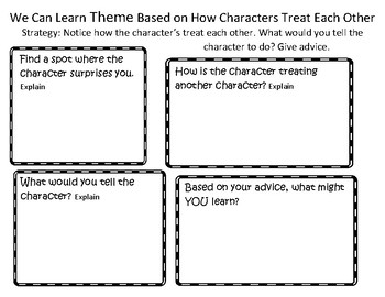 The Reading Strategies Book Goal 7.3 We Can Learn Theme Based on How Characters