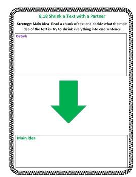 The Reading Strategies Book Goal 8.18 Main Idea-Shrink a Text