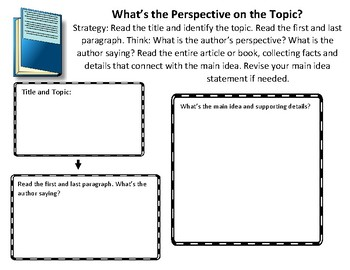 The Reading Strategies Book Goal 8.21 What's the Perspective on the Topic?
