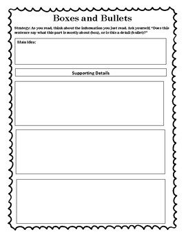 The Reading Strategies Book Goal 8.5 Boxes and Bullets