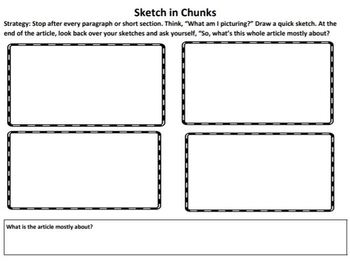 The Reading Strategies Book Goal 8.8 NF Sketch in Chunks to find the Main Idea