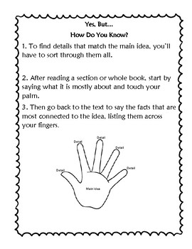 The Reading Strategies Book Goal 9.6 Yes, But How Do You Know?