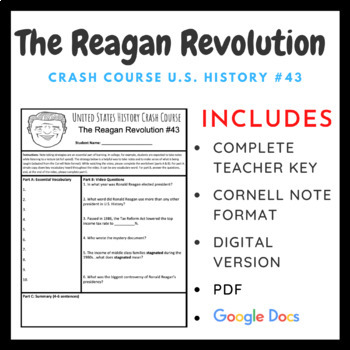 The Reagan Revolution: Graphic Organizer and Crash Course US History #43