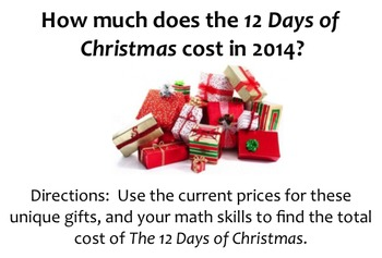 The Real Cost of the 12 Days of Christmas