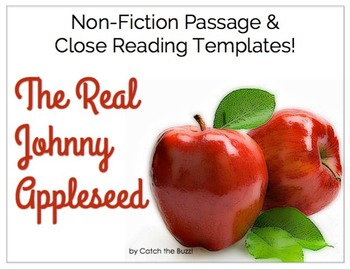 Johnny Appleseed ~ Close Reading Passage & Templates - The Real Johnny Appleseed