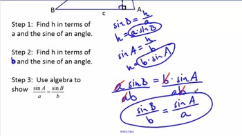 Right Triangle Trigonometry - Law of Sines, Law of Cosines