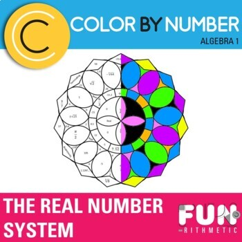 The Real Number System Color By Number By Funrithmetic Tpt
