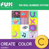 The Real Number System Create and Color