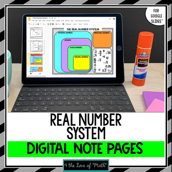 The Real Number System Digital Interactive Notebook Pages