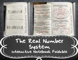 The Real Number System Foldable